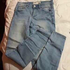Garage skinny jeans light wash